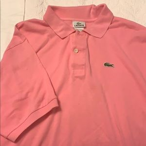 Pink Lacoste polo size 7